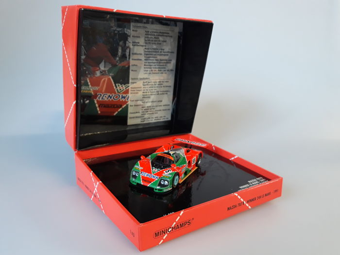MiniChamps - 1:43 - Mazda 787B #55 Winner 24H Le Mans 1991 - Limited Edition of 6.000 pcs.