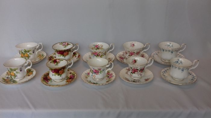 Collectie Royal Albert Heren & Dames kop en schotels