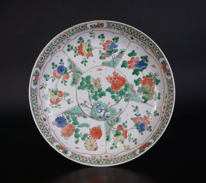 Famille verte porcelain bowl 28.5 cm - China - 17th century (Kangxi period)