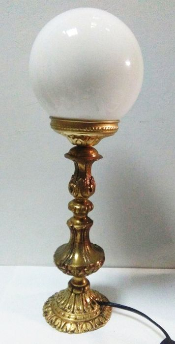 French style brass lamp