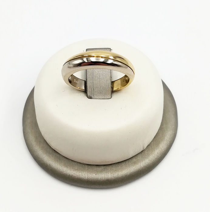 DAMIANI - Women's 18 kt white and yellow gold ring, size 11, weight 4.76 g