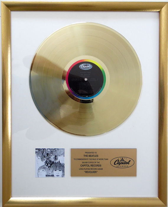 The Beatles - Revolver - Original US Gold In-House Award on Capitol  Records