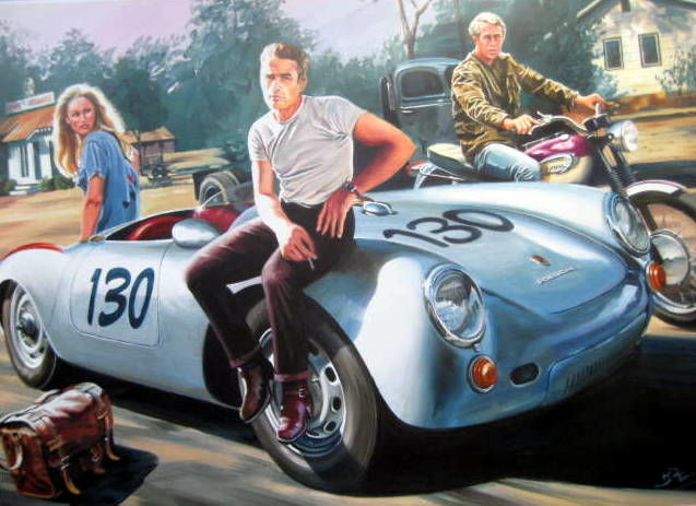 """James Dean, Porsche 550 Spyder"" 29-Sept-1955"