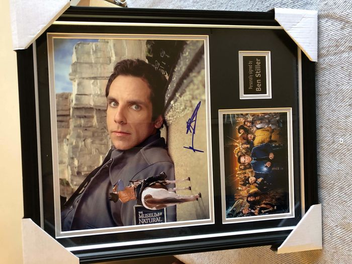 Ben Stiller Night at the Museum Autographed Picture Display from AFTAL & UACC Approved Dealer  COA