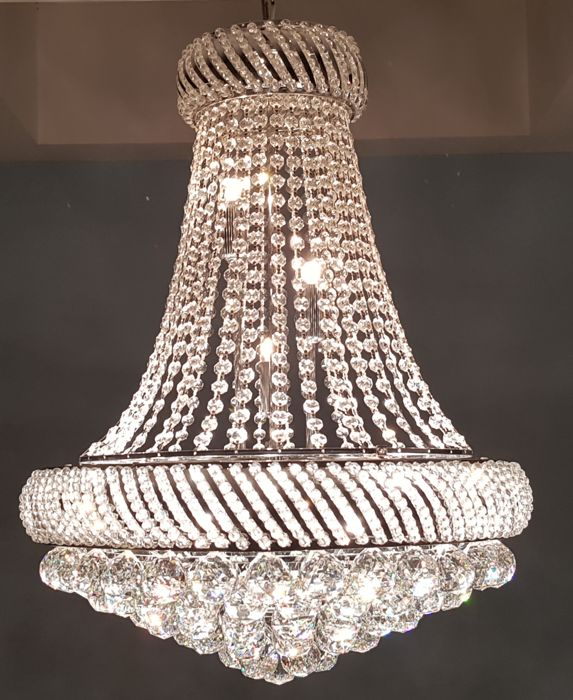 Chandelier of high quality crystal - late last century.