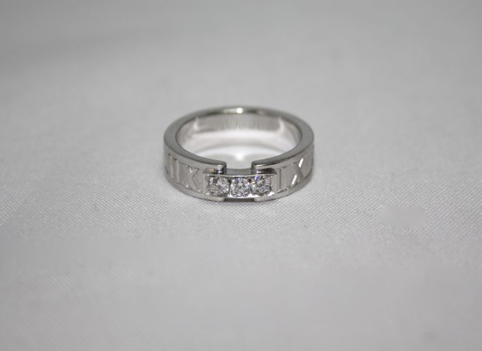 d7f41de1a Trilogy ring by Tiffany & Co., Atlas collection, in 18 kt white gold and ...