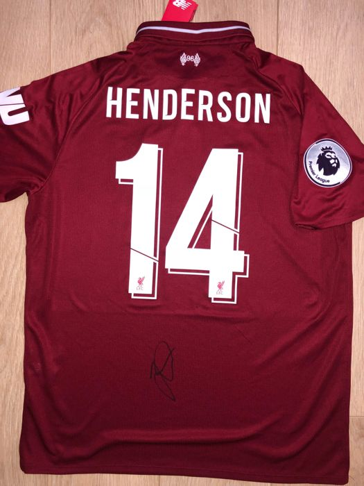official photos bf9d8 864b9 Jordan Henderson Signed Liverpool F.C. 18/19 home Shirt ...
