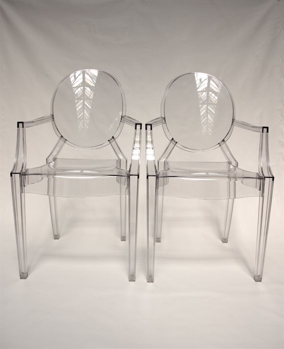 philippe starck for kartell 2 39 louis ghost 39 chairs catawiki. Black Bedroom Furniture Sets. Home Design Ideas