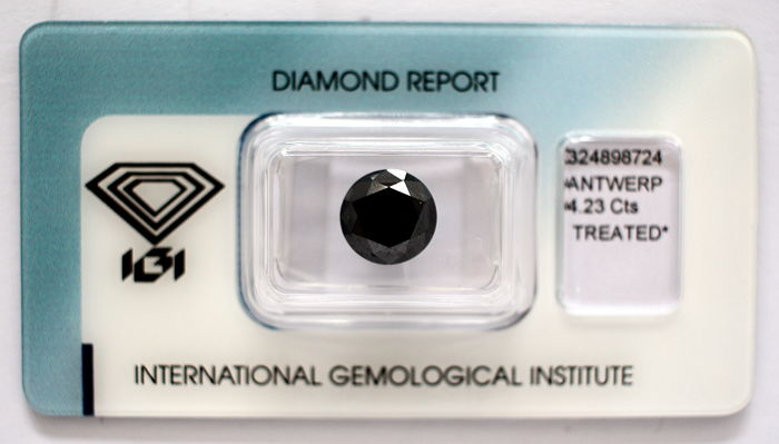 Black Diamond 4.23 CT with IGI certificate***No minimum price***