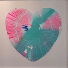 Damien Hirst - Heart spinpainting