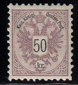 Austria 1883 - Coat of arms perf. 10 - ANK 44/49