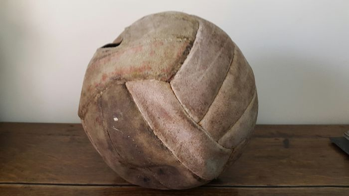 Antique leather ball - football