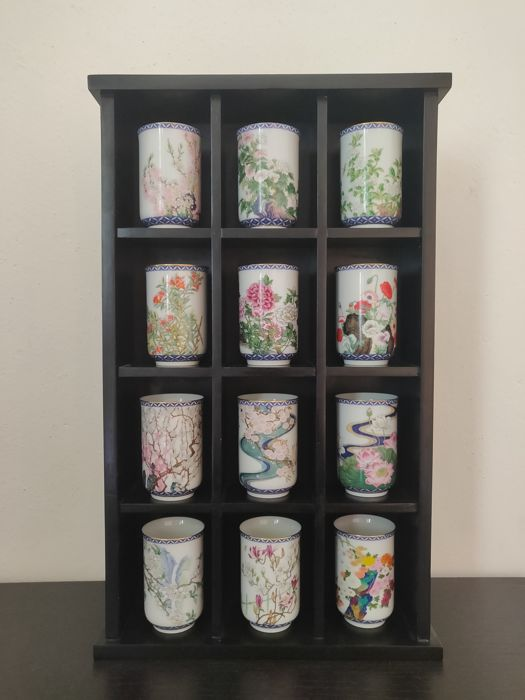 Franklin Mint - The Oriental tea cups of the twelve Flowers of the year