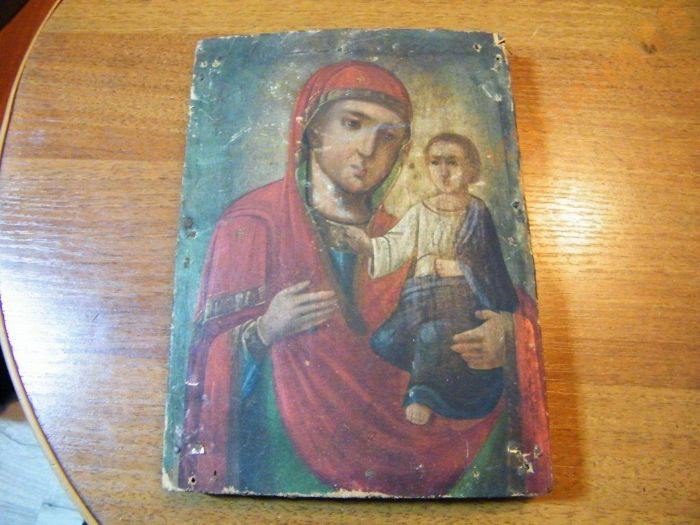 Orthodox Russian icon Virgin Mary - early 20th century