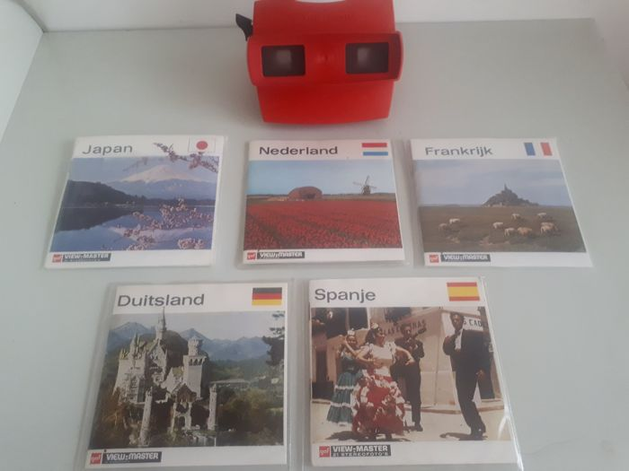 Lot view-master + 5 country folders