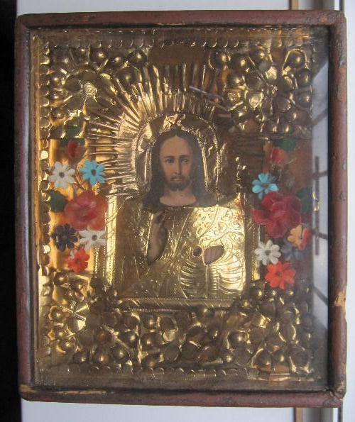 Orthodox Russian icon Jesus Christ - late 19th century
