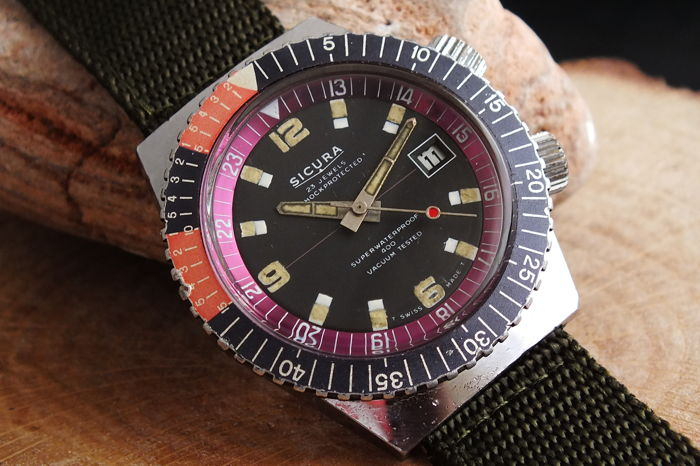 "Sicura - 400 ""Diver"" Manual Wind - Lockable Bezel  - Uomo - 1970-1979"