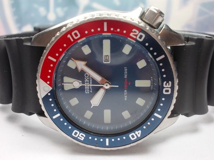 Seiko - Scuba Divers 150M 'Pepsi' - Dec.1990 model no. 4205.-015K - Unisex - 1990-1999