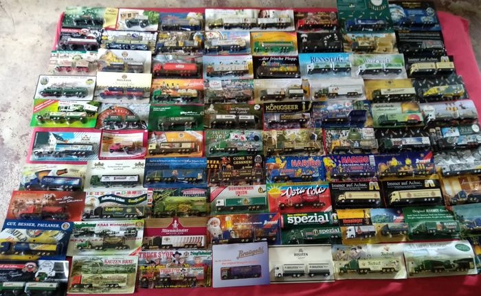80 pieces of brewery trucks, advertising trucks, nostalgia trucks, tank trucks, trailer trucks, some special editions, in original packaging