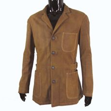 Armani  - Leather Aurano Coat