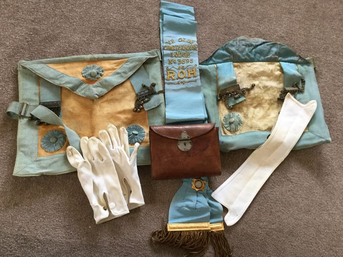 Believed to be Masonic Aprons plus others from Buffaloes