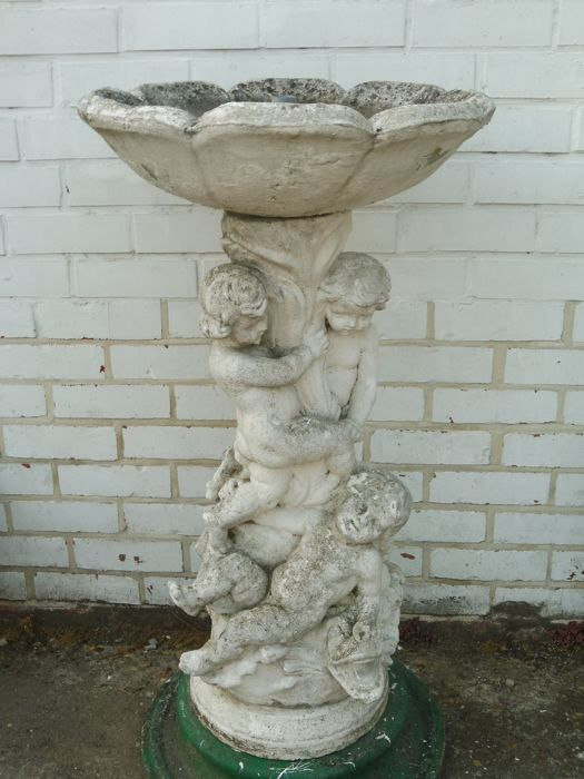 Concrete Garden Fountain Sculpture With Natural Aging   The Netherlands    Mid 20th Century