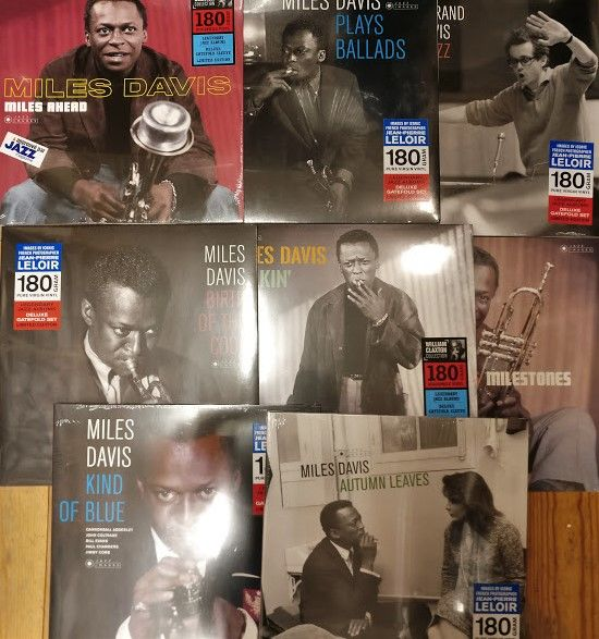 eight great albums of Miles Davis || 180-grams vinyl || Mint & Sealed