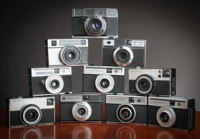 Superb pack of 10 AGFA Rapid and Iso-Pack cameras