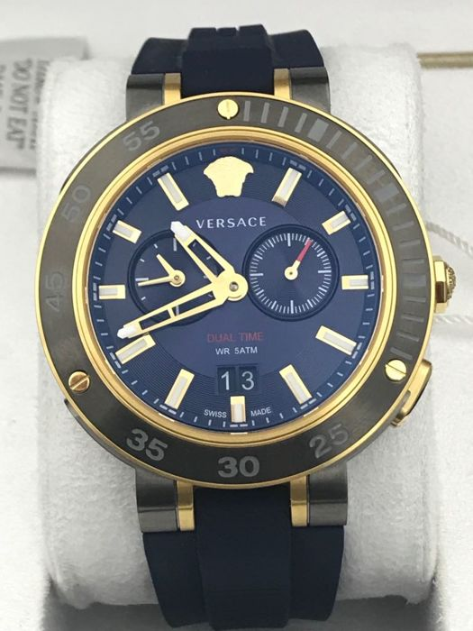 """Versace - V-Extreme Pro Dual Time - """"NO RESERVE PRICE"""" - VCN010017 - Heren - 2011-heden"""