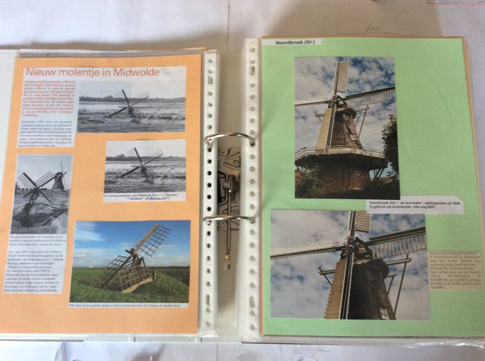 Molens in Nederland: enorme collectie in 27 ordners