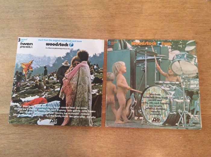 Back to 60's - Great Lot of 2 LP Albums ( 5 records ) - Woodstock