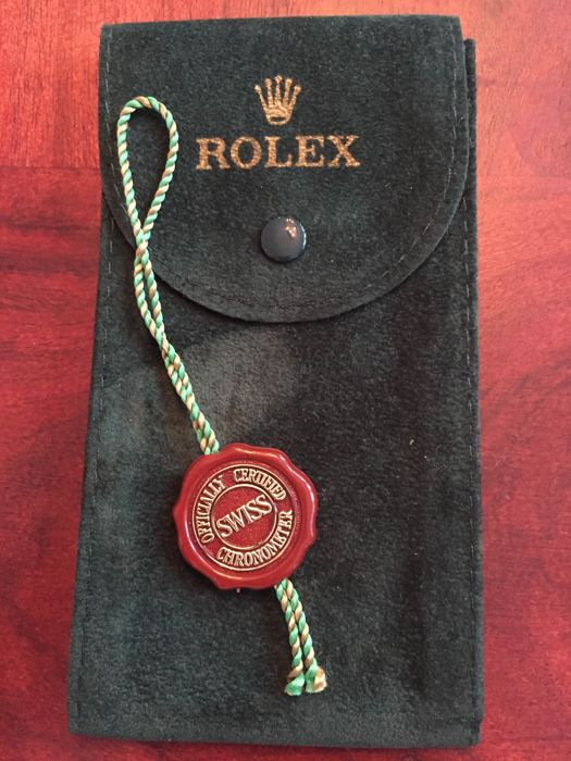 rolex lot of 2 vintage items tag and pouch