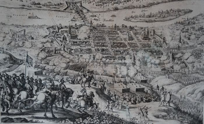 Germany, Brandenburg, Frankfurt on the Oder; M. Merian - Franckfürt / Francofutum ad viadrum - 1621-1650