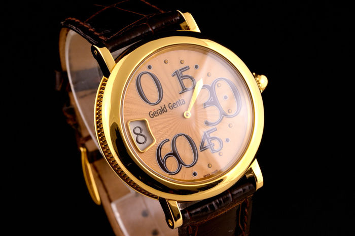 Gérald Genta - Retrograde Minutes Jump Hour Gold - 18K - G.3634 - Men - 2000-2010