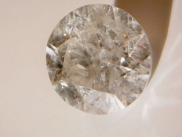 1 pcs Diamante - 0.46 ct - Brillante - G - SI3