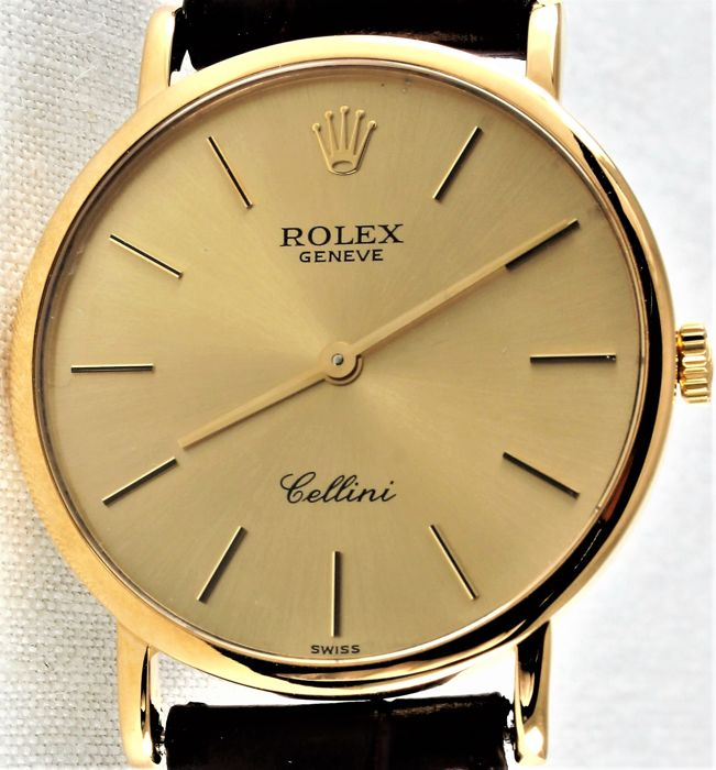 Rolex - Cellini 5112 - Yellow Gold 18 K  - Unique No. W036***- Excellent Condition - Warranty - Uomo - 1990-1999