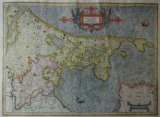 Ολλανδία, Holland; Gerard Mercator - Hollandt Comitatus Utricht Episcop. - ca. 1600