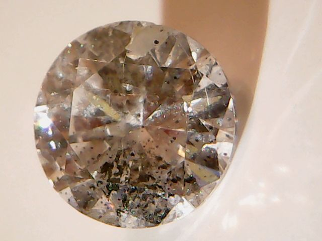 Diamond 0.58 ct, Brilliant Cut, Fancy Brown colour, Clarity SI2