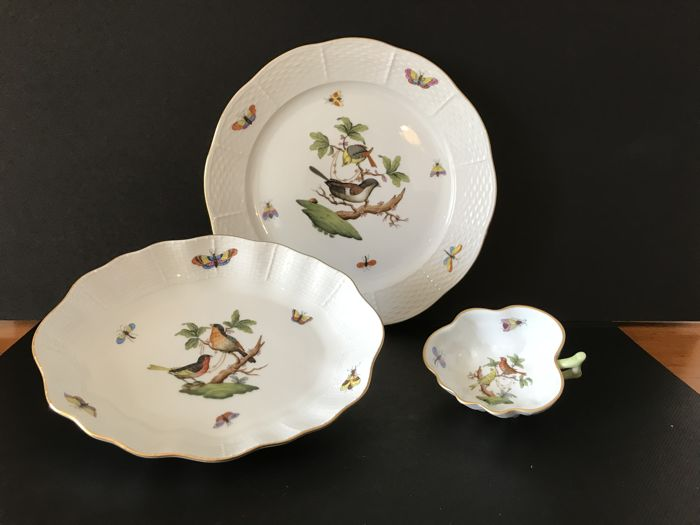 Herend - Dish, cake plate and candy bowl