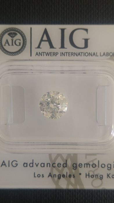 1.09 brilliant round cut diamond   H - SI3    AIG   *no reserve*