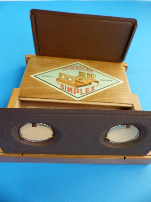 Simplex Stereoscopo - viewfinder wood - c.1890-1900