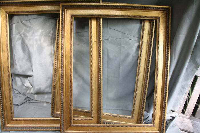 Three Large Picture Frames In The Same Style One With Matt Glass