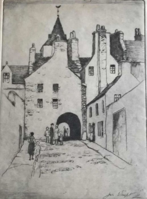 James   Wright R.S.W. - Edinburgh - Old booth Wynd