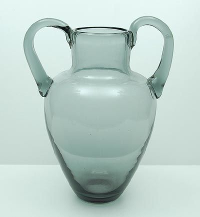 Joep Nicolas For A D Copier Grey Green Vase With Handles 34 Cm