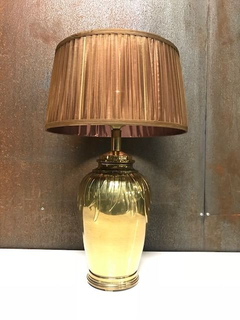 Falkenstein - Hollywood Regency vintage gold table lamp - Ca. 1970
