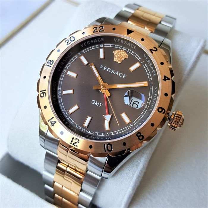 Versace Swiss Made Hellenyium GMT Sapphire Gold Men 2018 New Catawiki