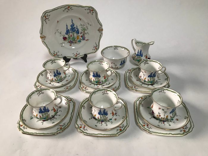 Tuscan - Porcelain Tea Crockery for 6 persons - Catawiki