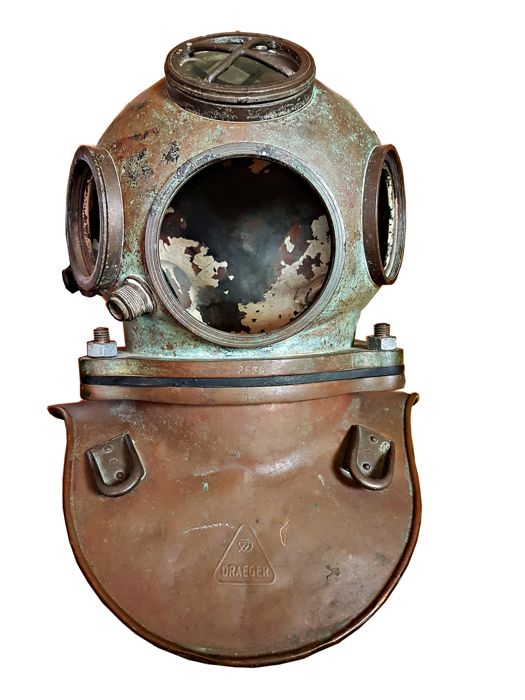 Vintage DIving Helmet Draeger 25 kg - Germany around 1940 - Catawiki