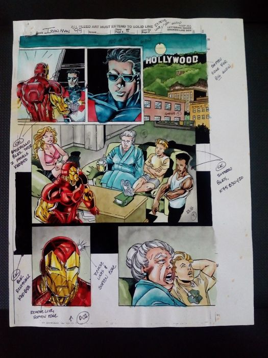 iron man Annual 99 - Original hand coloured / inked page with corection - Other - (1999)