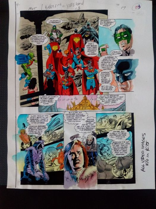 superman : man of tommorrow 13 - Original hand coloured / inked page with corection - Other - (1999)